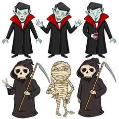 Vector Set of Halloween Characters