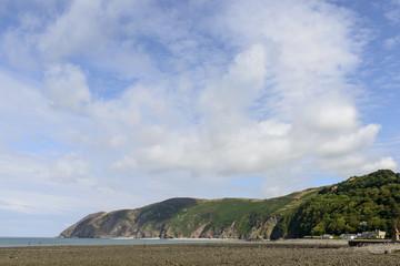 low tide at Lynmouth bay, Devon