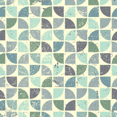 Vintage bright geometric seamless pattern, flower theme abstract