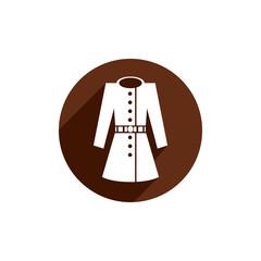 Overcoat vector icon isolated.