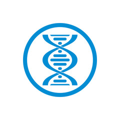 Dna vector icon isolated on white background.