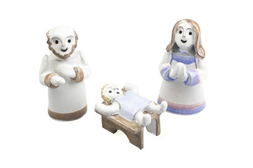 Handmade ceramic Nativity scene
