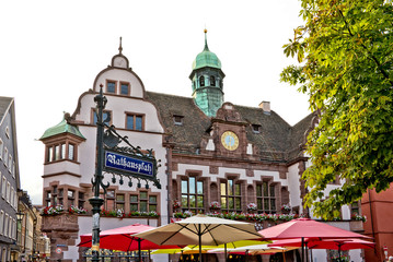 Rathausplatz (Town hall square), Freiburg im Breisgau, Germany