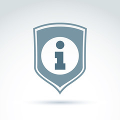 Personal data protection icon, conceptual call center icon, info