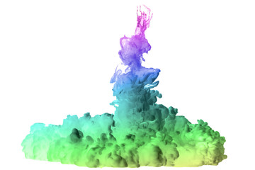 High-speed photos of ink dropped in water
