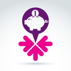 Conceptual personal earnings icon. Business idea discussion conc