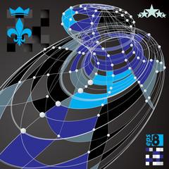 Spatial vector colorful digital eps8 backdrop, dimensional techn