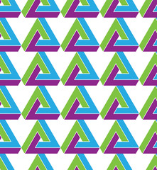 Triangle inspired texture background, continuous multicolored pa