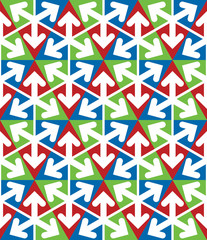 Bright extraordinary geometric seamless pattern with triangles a