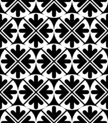Vector geometric seamless pattern. Unusual black and white artis