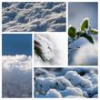 composition paysage de neige