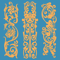 Vintage pattern, decorative elements