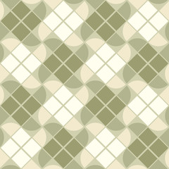 Vector geometric neutral background, elegant squared seamless pa