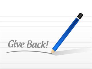 give back message illustration design