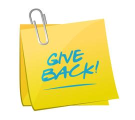 give back post memo illustration design
