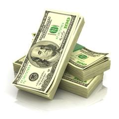 Stack of money dollars