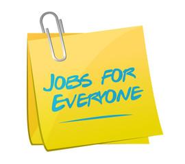 jobs for everyone memo illustration design