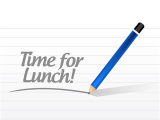 time for lunch message illustration design