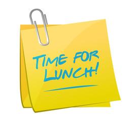 time for lunch post illustration design