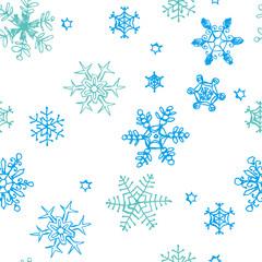雪の結晶柄