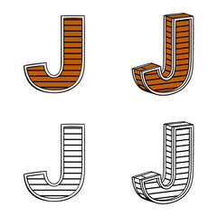 Letter J (a block of wood)