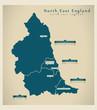 Modern Map - North East England - 70997157
