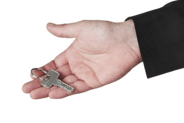 Hand holding security key