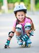 Girl on roller skates - 70997780
