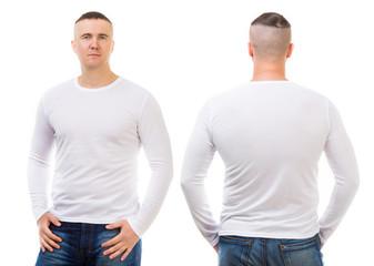boy in a white T-shirt