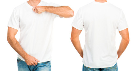 Man in a white T-shirt