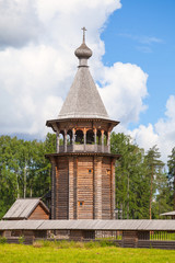 Wooden Church of the Intercession. Nevsky forest Park. St.-Peter