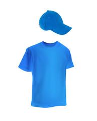 men's t-shirt template with a cap.