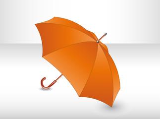 Orange umbrella. Illustration 10 version