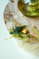 Оливковое масло и розмарин