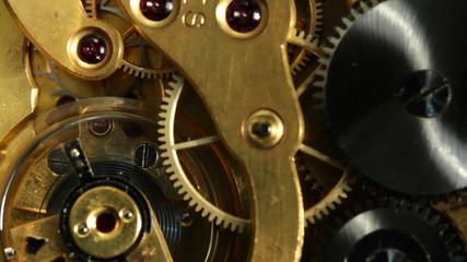 working pocket clock mechanism
