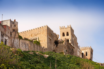 Ancient fortress ruins in Medina of Tangier, Morocco