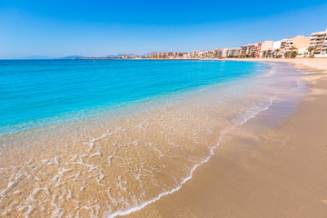 Aguilas Poniente beach Murcia in Spain