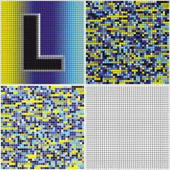 Letter L (mixed mosaic)