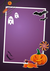 Halloween picture and text frame