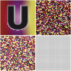 Letter U (mixed mosaic)