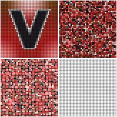 Letter V (mixed mosaic)
