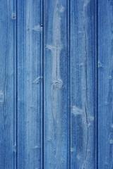 Hintergrund blaue Bretterwand mit verwittertem Lack