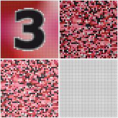 Number three (mixed mosaic)