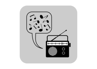 Radio vector icon