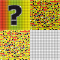 Question mark (mixed mosaic)