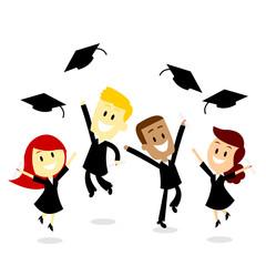 Throwing Cap in Graduation Day