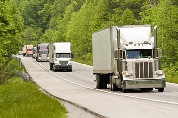 Semi Trucks On The Interstate