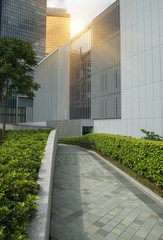 Park in modern building