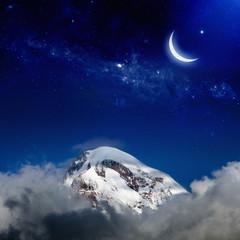 Night in mountain
