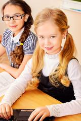 girls at classroom
